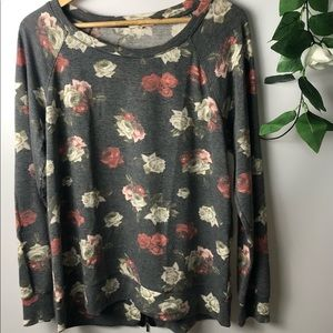 Celebrity Pink Top Blouse Floral Long Sleeve